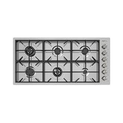 Foster 7649 000 Gas hob 115 cm - recessed q4 edge - brushed steel Milano