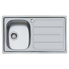 Foster 1186 462 Built-in sink - cm. 86 - 1 bowl left side microfoster steel S1000