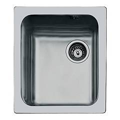 Foster 1117 061 Flush-mounted sink - cm. 39.4 - brushed steel with right exhaust S3000