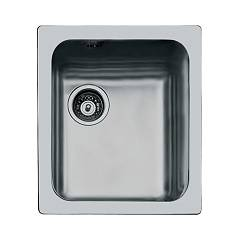 Foster 1117 062 Flush-mounted sink - cm. 39.4 - brushed steel with left exhaust S3000