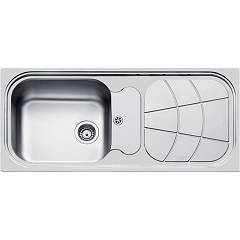 Foster 1513 202 Standard recessed sink 1160 x 500 - brushed steel 1 lh bath - roof right Big Bowl