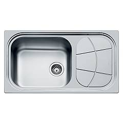 Foster 1561 402 Built-in sink cm. 86 - 1 bowl microfoster steel on the left Big Bowl