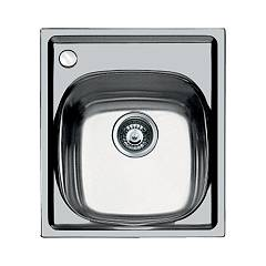 Foster 1144 002 Built-in sink - cm. 44 - brushed steel 1 bowl - left mixer hole S1000