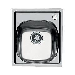 Foster 1144 001 Built-in sink - cm. 44 - brushed steel 1 bowl - right mixer hole S1000