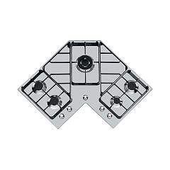 Foster 7038 052 Gas hob 83 cm - brushed steel - corner Angolare