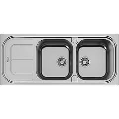 Foster 1284 001 Built-in sink cm. 116 - brushed steel 2 right sheets + left dropped Moon
