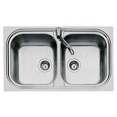 Foster 1962 060 Built-in sink cm. 86 - brushed steel 2 tanks Moon