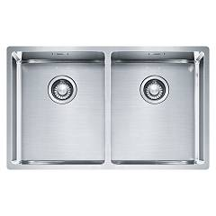 Franke Bxx 220/120 34-34 74 x 45 semi-flush / flush / undermount sink 2 bowls - stainless steel Box