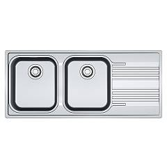 Franke Srx 621 Sink recessed 116 x 50 stainless steel - drip pan-right 101.0356.895 Smart