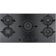 Franke Fhcr 905 4g Tc He Bk C Gas cooking top cm. 88 - black crystal 106.0374.288 Crystal Black