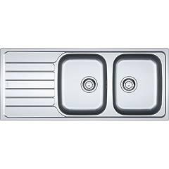 Franke Skx 621 Built-in sink 116 x 50 cm brushed stainless steel - left drainer 101.0264.039 Spark