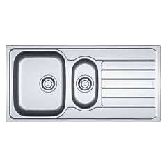 Franke Skx 651 Sink two basins 100 x 50 cm brushed stainless steel - right drainer 101.0264.036 Spark
