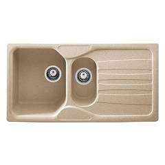 Franke Cug 651 97 x 50 cm oat built-in sink - right draining board Calypso