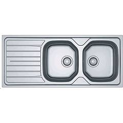Franke Rnx 621 Stainless steel built-in sink 116 x 50 cm - left draining board 101.0502.141 Reno
