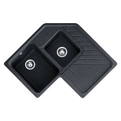 Franke Srg 621-e Sink recessed 84,6 x 84,6 - graphite drip pan-right 114.0277.269 Summit Carron
