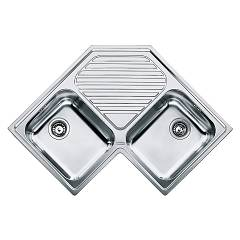 sale Franke Pnx 621-e - Angolo Sink Flush-mounted 83 X 83 Stainless Steel - Rain Gutter Central 101.0021.585