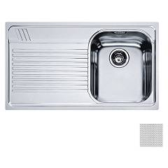 Franke Aml 611 86 x 50 built-in sink 1 bowl with left drainer - dekor Armonia