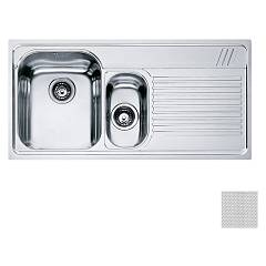 Franke Aml 651 1 1/2 bowl built-in sink 100 x 50 with right drainer - dekor Armonia