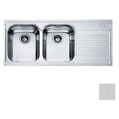 Franke Aml 621 2 bowl recessed sink 116 x 50 with right drip - dekor Armonia