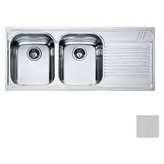Franke Amt 621 2 bowl recessed sink 116 x 50 with right drainer - microdekor Armonia