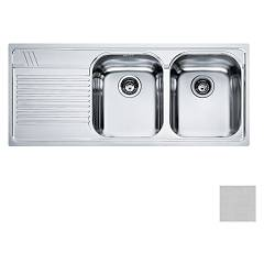 Franke Amt 621 2 bowl recessed sink 116 x 50 with left drainer - microdekor Armonia