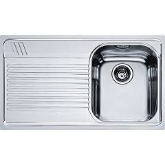 Franke Amx 611 86 x 50 built-in sink 1 bowl with left drainer - stainless steel Armonia