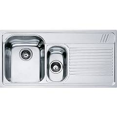 Franke Amx 651 1 1/2 bowl built-in sink 100 x 50 with right drip - stainless steel Armonia