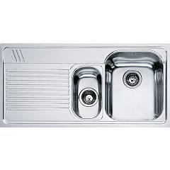 Franke Amx 651 1 1/2 bowl built-in sink 100 x 50 with left drainer - stainless steel Armonia