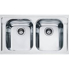 Franke Amx 620 86 x 50 built-in sink 2 bowls - stainless steel Armonia