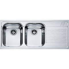 Franke Amx 621 116 x 50 built-in sink 2 bowls with right drip - stainless steel Armonia