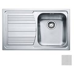 Franke Lll 611 Recessed sink 79 x 50 dekor - left draft 101.0086.233 Logica Line