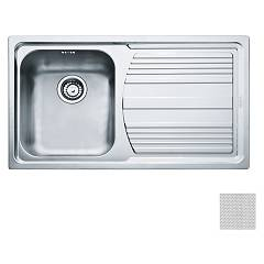 Franke Lll 611-l 86 x 50 built-in sink 1 bowl with right drainer - dekor Logica Line