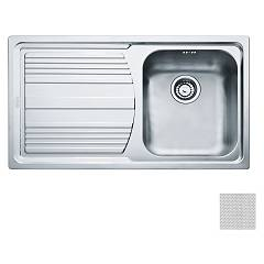 Franke Lll 611-l 86 x 50 built-in sink 1 bowl with left drainer - dekor Logica Line