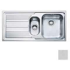 Franke Lll 651 Built-in 1 1/2 bowl sink 100 x 50 with left drainer - dekor Logica Line
