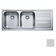 Franke Lll 621 Recessed sink 116 x 50 dekor - right drop 101.0086.271 Logica Line
