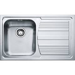 Franke Llx 611 Built-in sink 1 bowl 79 x 50 with right drip - stainless steel Logica Line