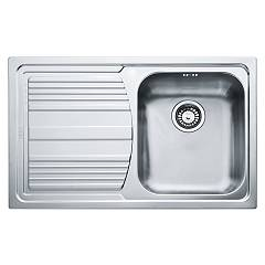Franke Llx 611 Built-in sink 1 bowl 79 x 50 with left drainer - stainless steel Logica Line