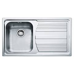 Franke Llx 611-l 86 x 50 built-in sink 1 bowl with right drainer - satin stainless steel Logica Line