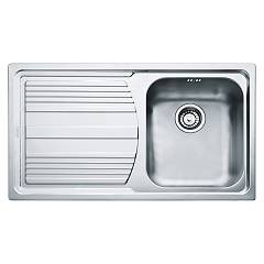 Franke Llx 611-l 86 x 50 built-in sink 1 bowl with left drainer - stainless steel Logica Line