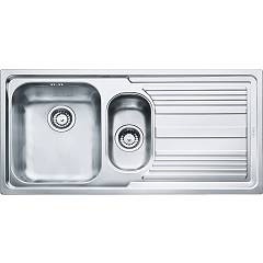 Franke Llx 651 Recessed sink 100 x 50 stainless steel - right drop 100.0085.810 Logica Line