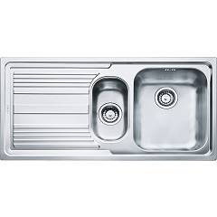 Franke Llx 651 1 1/2 bowl built-in sink 100 x 50 with left drainer - stainless steel Logica Line