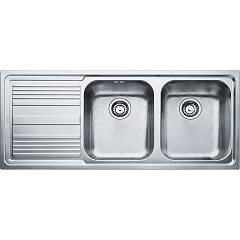 Franke Llx 621 2 bowl recessed sink 116 x 50 with left drainer - stainless steel Logica Line