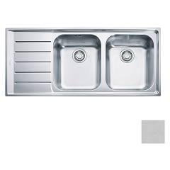 Franke Net 621 2 bowl recessed sink 116 x 51 with left drainer - microdekor Neptune