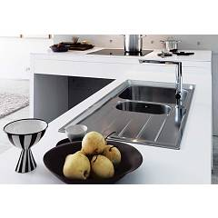 Franke built-in sink NEX 651 right drip - set side view