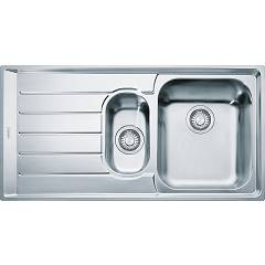 Franke Nex 651 1 1/2 bowl built-in sink 100 x 51 with left drainer - stainless steel Neptune