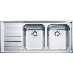 Franke Nex 221 Sink 2 basins semifilo / filotop 116 x 51 with left drainer - stainless steel Neptune