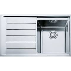 Franke Npx 611 86 x 51 built-in sink 1 bowl with left drainer - stainless steel Neptune Plus