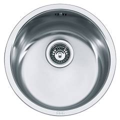 Franke Rax 610-38 Round sink 1 built-in bowl ø 44 - stainless steel Rotondo