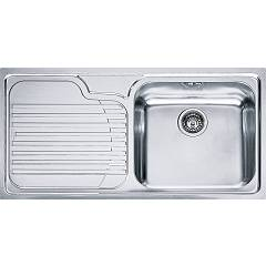 Franke Gax 611 Built-in sink 1 bowl 100 x 50 with left drainer - stainless steel Galassia