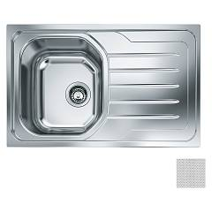 Franke Oll 611 Built-in sink 1 bowl 79 x 50 with right drip - dekor Onda Line